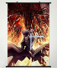Wall Scroll Poster Fabric Painting for Anime Hellsing Alexander Anderson 002