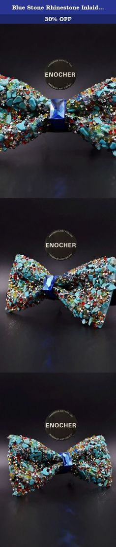 Blue Stone Rhinestone Inlaid Gem Bow Tie,Men BowTie,Self Tie Bow Tie,BowTie For Men,Gentleman,Business,Wedding,Gift,Fashion,High-end,Luxury. Blue stone rhinestone inlaid gem bowtie,incomparable shine, high brightness, Perfectly natural. Add to your endless charm, You deserve to have. Bow tie is becoming more a popular accessory. makes your look unique, because every bow tie has its own special color and texture that will differentiate it from each other, which will give each product its...