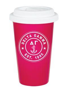 Delta Gamma Ceramic Circle Latte mug from GreekGear.com