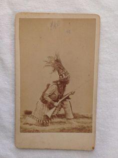 Native American Indian, North/East Tribe, Rare CDV
