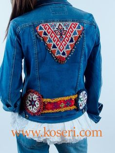 Afghan Clothes, Afghan Dresses, Outerwear Jackets, Denim Jackets, Recycled Denim, Boho Dress, Diy Clothes, Boho Fashion, Jackets For Women