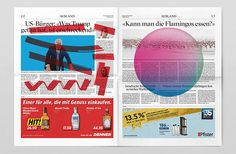 Swiss graphic design outfit Studio Feixenredesigned the most-read daily newspaper in Switzerland, 20 Minuten