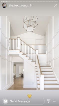 66 the best stairs ideas to interior design your home 38 ~ Best Dream Home – Decorating Foyer Railing Design, Stair Railing, Staircase Design, Staircase Ideas, Grand Staircase, Railing Ideas, Banisters, Staircase Molding, Craftsman Staircase