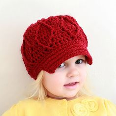 Crochet For Free: Maggie Newsboy Hat (two sizes: toddler/sm. child and Adult)