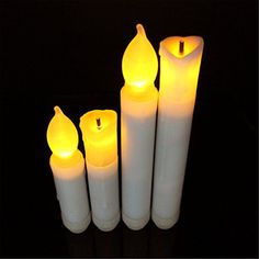 TBW Set of 4 Battery Operated Dipped LED Taper Candles Suitable for Hotels Bars Home Decoration Churches Temples Christmas Day Birthday Parties on the Beach on the Grass Home Decoration >>> This is an Amazon Affiliate link. You can get more details by clicking on the image.