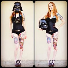 The Star Wars Culture: SuicideGirl Kemper with her killer Darth Vader tattoo