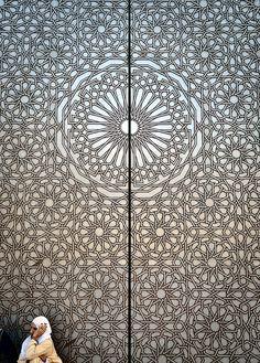 Door  at the Hassan II Mosque, Casablanca