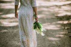 The Zero-Waste Wedding Dress by Lost in Paris Bridal. Ethically made from salvaged vintage lace.