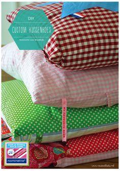 DIY pillowcover, customize pillow cover. Zelf kussenhoes maken, zelfmaker. Voor meer creatieve DIY's en gratis printables, check www.moodkids.nl