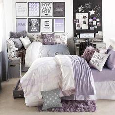 Lavender Marble Duvet Cover and Sham Set