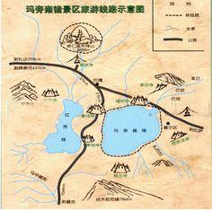 Map of Lake Manasarovar Tibet