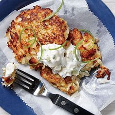 Crisp Cauliflower Fritters | MyRecipes  The most versatile vegetable ever, cauliflower, truly shines in this exceptional fritter recipe.