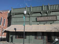 """Mystic Falls, Virginia"" aka downtown Covington, Georgia. An exterior set for The Vampire Diaries"