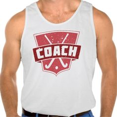 Field Hockey Coach Shield Tanktop Tank Tops