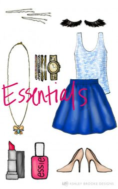 Ashley, of Ashley Brooke Designs, features Annie Griffin's fan print Hannah tank in her party essentials!
