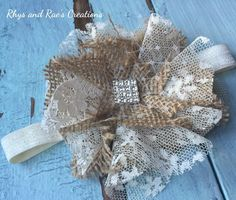 A personal favorite from my Etsy shop https://www.etsy.com/listing/251916011/burlap-lace-fabric-flower-with
