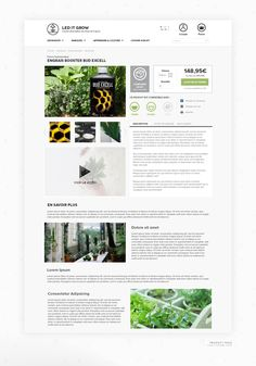 Led It Grow - Eshop on Behance