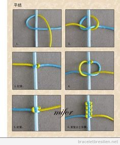 Tutoriel pas a pas, comment creer un bracelet simple de queue de rat - Tap the link now to see where you can find the top trending items for your own fly! You can make with embroidery thread, affordable string or even yarn. Great project to make with kid Square Knot Bracelets, Diy Bracelets Easy, Bracelet Crafts, Jewelry Crafts, Braclets Diy, Crochet Bracelet, Diy Bracelets With String, Knotted Bracelet, Yarn Bracelets