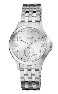 Citizen EQ9050-57A Women's Quartz Watch with White Dial and Stainless Steel Band