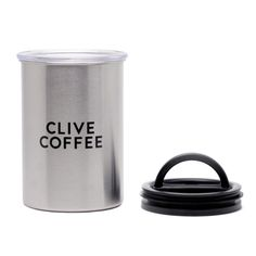 Steel Cup custom imprinted Airscape canister steelcupcoffee