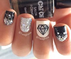 This would be super cute for winter with a snowflake instead of a diamond