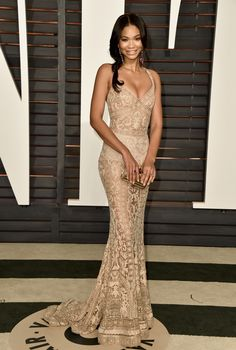 Chanel Iman @ the Oscars 2015 after-parties