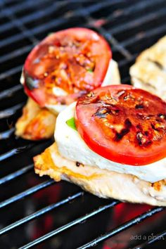 Caprese Grilled Chicken with Balsamic Reduction Recipe - A favorite caprese salad takes center stage with this delicious grilled chicken!