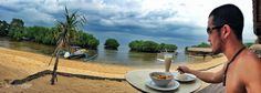 Lunch on my Beach Bungalow in Paradise /// #indonesia #travel #wanderlust