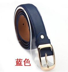 2016 Women Fashion Belts Cinturones Mujer Ladies Faux Leather Metal Buckle Straps Girls Fashion Accessories Clothing, Shoes & Jewelry - Women - women's belts - http://amzn.to/2kwF6LI