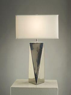 NOVA Lighting Prism Table Lamp, Silver