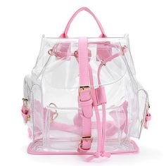 pretty nice 473dd b25e3 Women s Backpack Clear Plastic See Through Security Transparent Backpack  Bag Ladies Travel Bag Ladies Bag mochila feminina