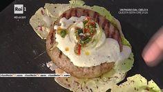 """La ricetta del bekèr burger di Fabrizio Nonis del 26 gennaio 2017, a """"La prova del cuoco""""."""