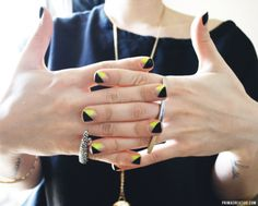 Triangle cross over french tip