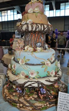 Enchanted forest cake ~ WOW
