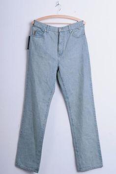 New Armani Jeans Mens 32 Trousers Baby Blue Cotton - RetrospectClothes