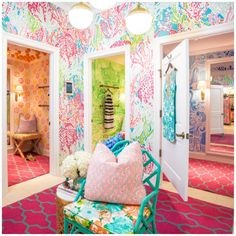 The Lilly Pulitzer dressing room I was in a couple weeks ago:)