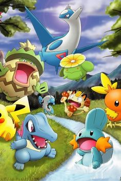 Any picture with Ludicolo and Latios in it deserves a re-pin.