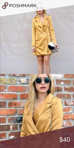 Missguided Tuxedo Dress Missguided Gold Tuxedo Dress - Worn Once Missguided Dresses Mini