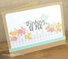 Thinking Of You Card by Nichole Heady for Papertrey Ink (February 2013)
