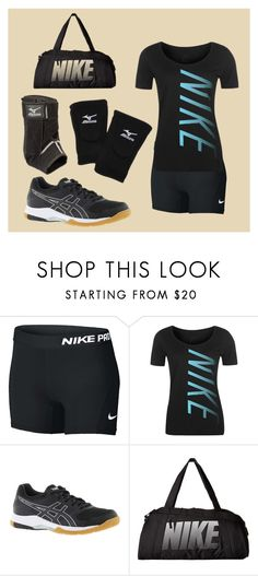 """""""Volleyball Outfit"""" by nyariekkang on Polyvore featuring NIKE, Mizuno and Asics"""