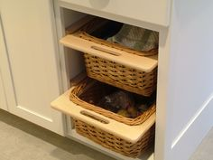 Innovative drawer space in a remodel by EGStoltzfus #architecture #drawers