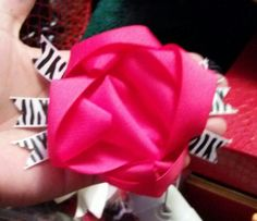 Pink and zebra hair bow