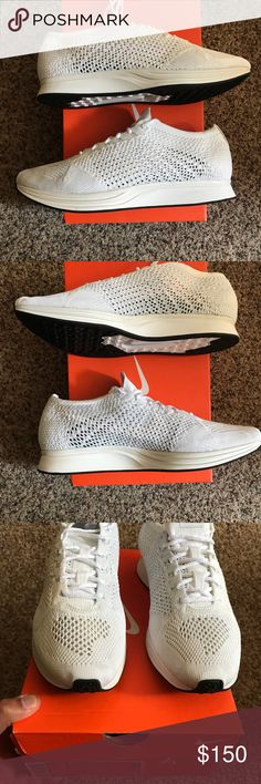 Flyknit Racers TripleWhite Brand new DS Nike Shoes Athletic Shoes