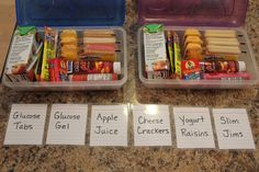 What a great idea she had! She wrote: finally found a simple way to keep extra diabetes supplies in all of my daughter's middle school classrooms; pencil boxes! I laminated little inventory cards that she can bring home when she uses the last of that item. That way I can send replenishments back to school with the inventory card.