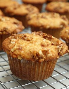Banana honey-walnut muffins, I'd love to try with a little oat bran or a whole wheat version. Then it's totes healthy, right?