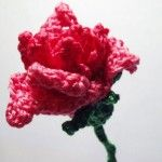 Pink Crochet Rose plus many more flower crochet patterns
