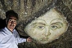 Angel face mosaic that was recently uncover in Istanbul, in the famous mosque Hagia Sophia.