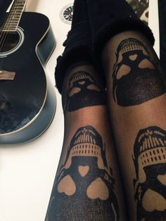 Skulls in the right places. Tights.                                                                                                                                                                                 More