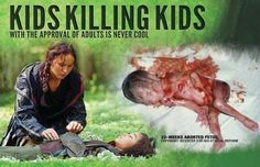 Kids killing kids for the amusement of adults is never cool.