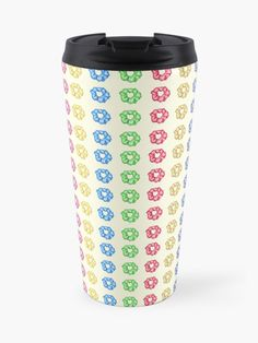 'Colorful 35 Mini Scrunchies Pack ' Travel Mug by AElenaS Transparent Stickers, Travel Packing, Glossier Stickers, Iphone Wallet, Sell Your Art, Scrunchies, Travel Mug, The Unit, Stainless Steel